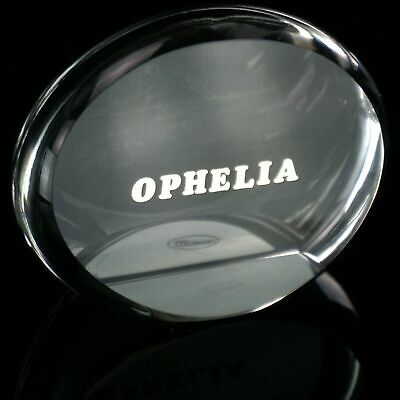 Moser Glass Ophelia Dealer Advertising Sign Collector Plaque Curio Display • 2.23£