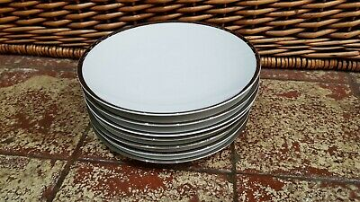 6 Thomas Germany Thick Silver Band 17.5cms Tea Side Plates  • 9.99£