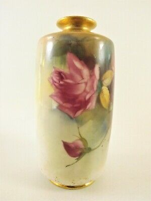Antique Royal Worcester Hand Painted Vase / Signed & Dated 1922 Ref 1063/1 • 41£