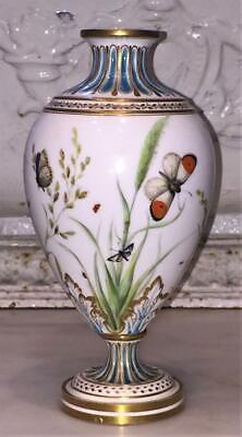 Exquisitely Hand Painted Antique Minton Aesthetic Movement Vase With Insects • 264.99£