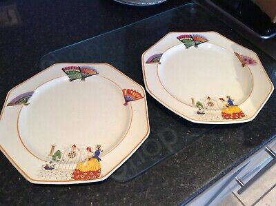 "Pair Of 8"" Matching Victorian Tea Plates • 20£"