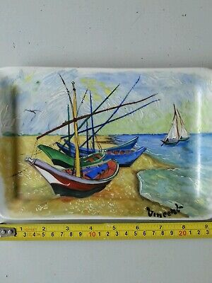 Beautifull Handpainted China Dish,boats • 19.99£