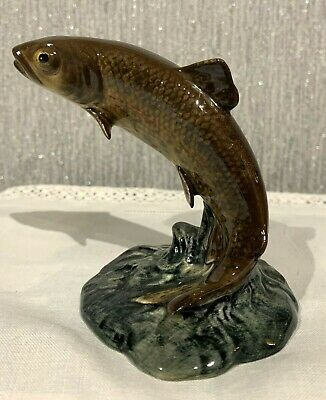 BESWICK FISH TROUT MODEL No 1390 BROWN & GREEN GLOSS SMALL PERFECT (a) • 59.99£