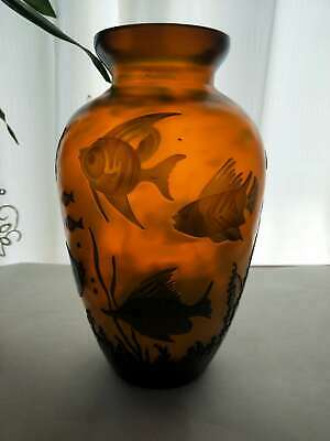 Very Beautiful. Emile Galle Tropical Fish  Vase • 53£