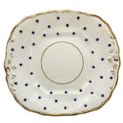 Antique China Polka Dot Hand Painted Cake Plate • 19.99£