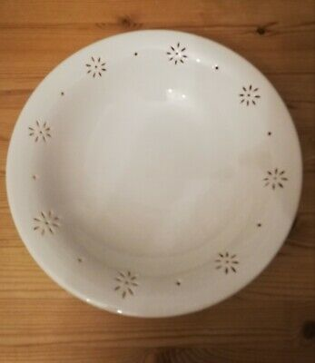 Vintage LAURA ASHLEY HAND PIERCED CHINA LARGE  BOWL. MADE IN ENGLAND.  • 9.99£