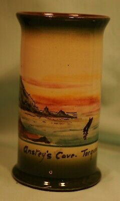 Watcombe Pottery, Faience Ware Anstey's Cove, Torquay Vase, Very Good Condition  • 15£