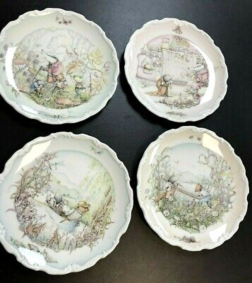 Vintage 1984 - Royal Doulton 'Wind In The Willows' Decorative Plates X 4 • 7.50£
