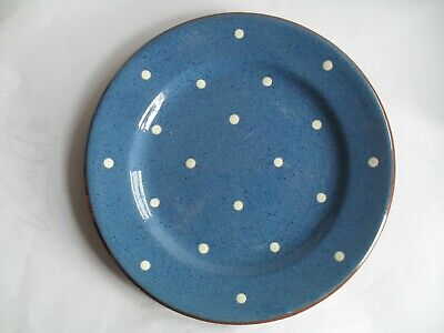 Dartmouth Pottery Domino Pattern Blue With White Spots,6 1/2  Diameter X 4 • 8.99£
