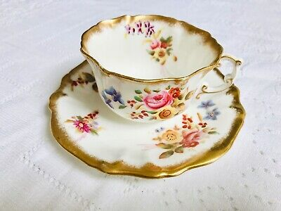 Hammersley Dresden Spray Bone China Tea Cup And Saucer Set Engish Vintage China  • 75£