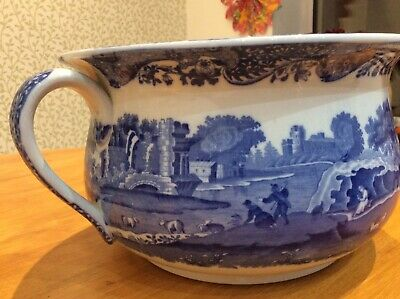Antique Vintage Copeland Spode ITALIAN Very Large Chamber Pot, Blue Stamp • 31£
