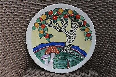 Art-deco Plate/charger Painted By Scottish Lady Artist • 14.50£