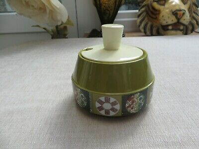 Carlton Ware Rare Lidded Pot Tapestry Design 1960's Ideal For Conserves/sauces • 15£