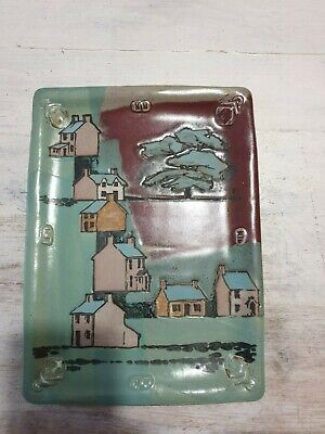 Two Ceramic Glaze Paintings By Frank Hamer ForWall Hanging • 15£