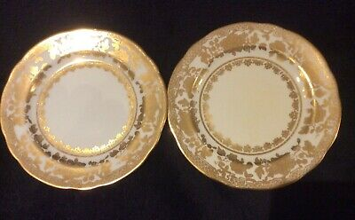 Antique 1920's Hammersley Two Gilded Side Plates • 9.99£