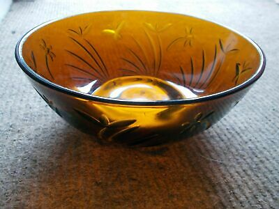 Vintage Heavy Brown Glass Bowl • 7.50£