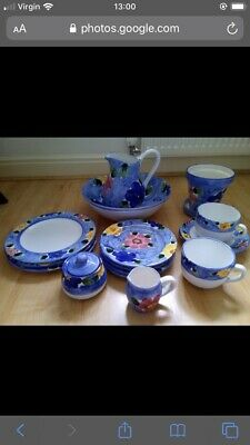 BHS Blue Flowered Pottery Display Pieces.  • 15£