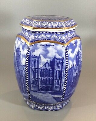 Ringtons Wade Blue And White Cathedral Design Biscuit Jar 19cm Millenium 2000 • 14.95£