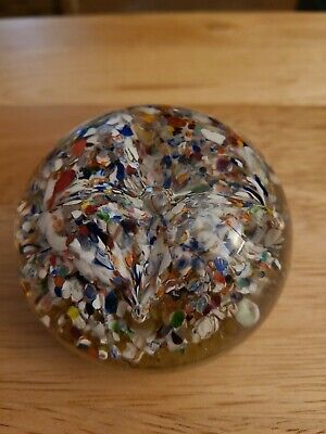 Paul Ysart Controlled Bubbles Harlequin Paperweight • 14.90£