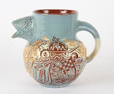 C.H Brannam Rare Arts Crafts Pottery Jug 1896 Hungarian Millennial Exhibition • 149.99£