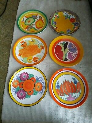 Set Of X6 Plates. Wedgwood Clarice Cliff. A Zest For Colour Series. With Certs • 140£