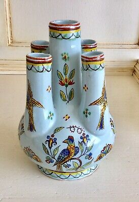 Vintage French Faience Vase. • 45£