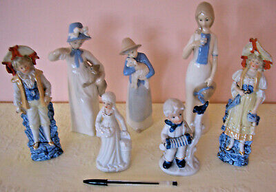 Vintage Mixed Assortment Of China Figurines - Job Lot X 7 • 9.95£