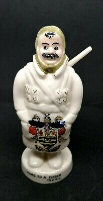 Carlton China Collectable, Ww1 Old Bill Figure, Blackpool Crest Etc, Excellent • 80£