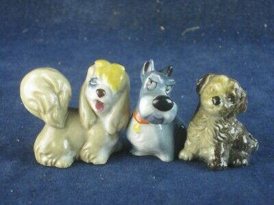 48272 Old Vintage Antique Pottery Figurine Ornament Porcelain Wade Figure Dogs • 5£