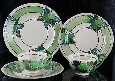 Glasgow School Mak Merry Arts And Crafts Tea Group Bough Style Scottish Pottery • 0.99£