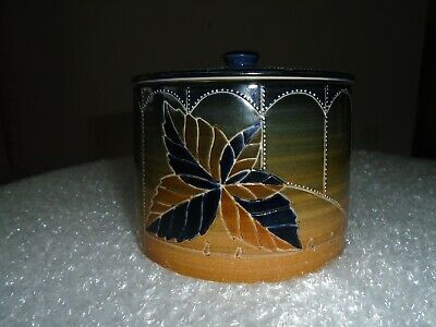 Sally Tuffin Dennis Chinaworks 'Autumn Leaves' Lidded Pot / Jar Excellent Cond. • 149.99£