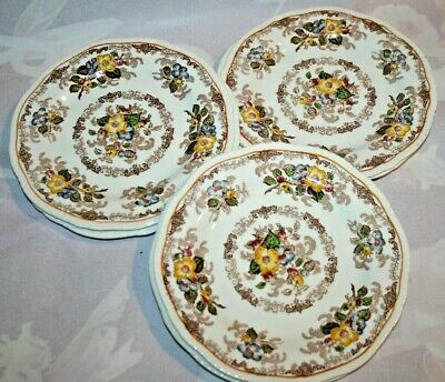 6x Cute Vintage Ridgways Apple Blossom Side/Cake Plates Floral Shabby Chic Tea • 8.50£