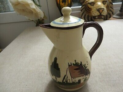 Torquay Ware Babbacombe Pot Come Fill The Pot That Clears Today Past Regrets • 15£